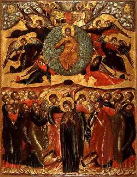 The Ascension of Christ, from the Church of Elijah the Prophet, Yaroslavl,Russia second hal