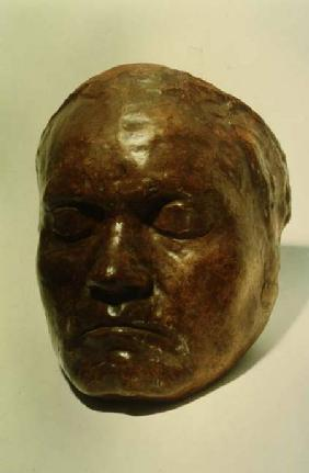 Cast of the face of the German composer Ludwig van Beethoven (1770-1827) c.1812