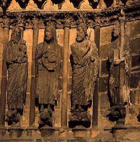 Four figures from the Cathedral facade c.1230-40