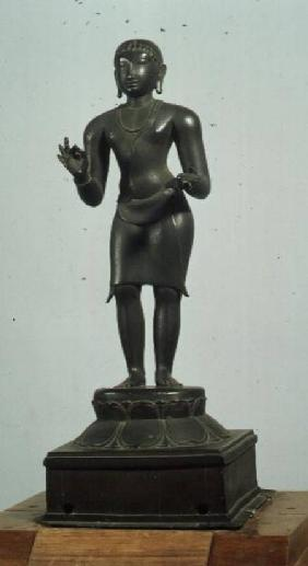 Kali (one of the aspects of Parvati), bronze, late Chola 12th centu