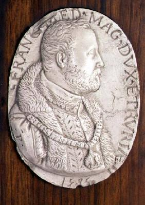 Medallion bearing the portrait of Francesco de' MediciDuke of Florence (1541-87) (who founded a Maio 1585