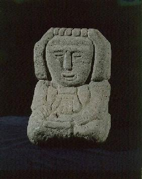 Sculpture of a goddessfrom near Tenochtitlan (Mexico City) Aztec c.1325-152