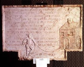 Stone from the house of Tristano Martinelli 1618