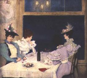 Women Dining in a Restaurant