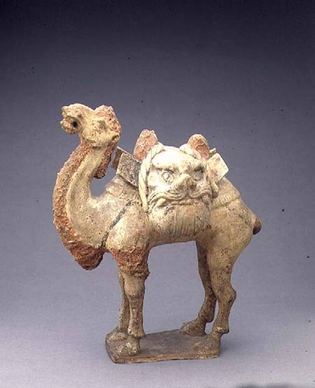 Tomb figure of a camel, carrying saddle - Anonymous als ...