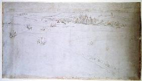 Greenwich, from 'The Panorama of London' c.1544  an