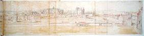 Hampton Court Palace from the North, from 'The Panorama of London' c.1544