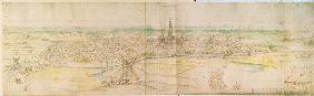 Panoramic View of S'Hertogenbosch, c.1545-50 (pen & ink with w/c over chalk) 20th