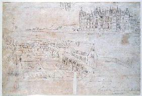 Privy Gardens, Richmond Palace, from 'The Panorama of London' c.1544  an
