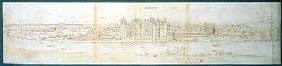Richmond Palace from Across the Thames, 1562 (pen