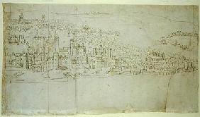 The Tower of London, from 'The Panorama of London' c.1544  an