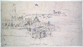 Whitehall Stairs, from 'The Panorama of London' c.1544  an