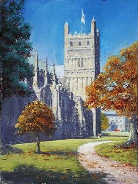 Exeter Cathedral - North Tower, 2003 (pastel on paper)