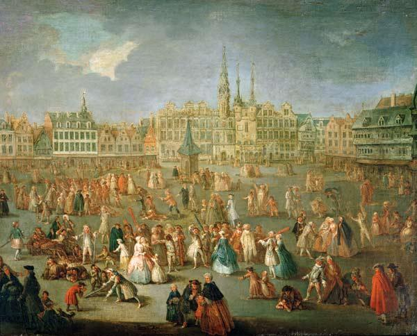 The Grand Place during Mardi Gras, Cambrai 1765