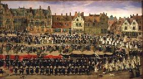Procession of the Maids of the Sablon in Brussels
