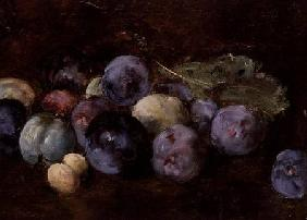 A Still-Life of Plums 1874