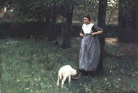 Larener Woman with a Goat c.1885