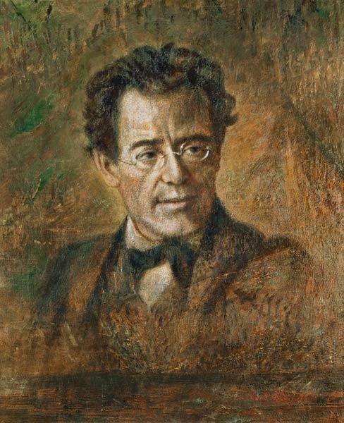 <b>Gustav Mahler</b> (1860-1911) - Anton Wagner als Kunstdruck oder handgemaltes ... - Gustav-Mahler