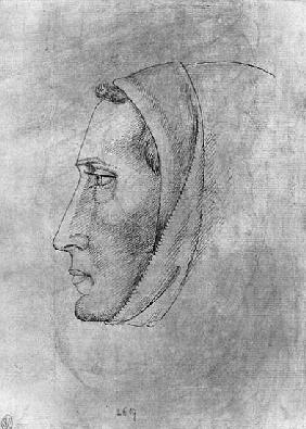 Head of a monk, from the The Vallardi Album