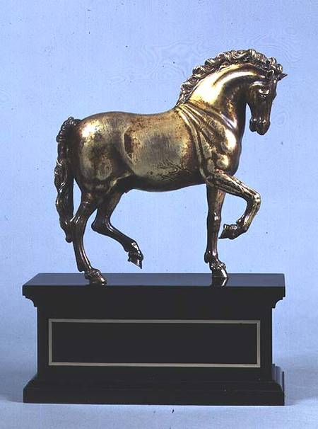 gilt bronze walking horse cast from a m antonio suisini. Black Bedroom Furniture Sets. Home Design Ideas