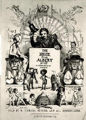 Titlepage from ''The House that Albert Built'',1880 (b/w photo