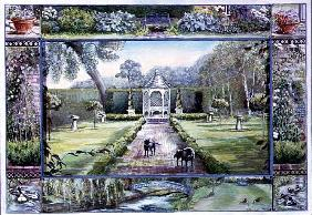 Turweston Mill Garden with Folly, 1997 (tempera on board)