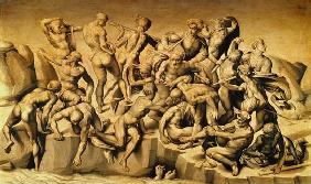 The Battle of Cascina, or The Bathers, after Michelangelo (1475-1564) 1542