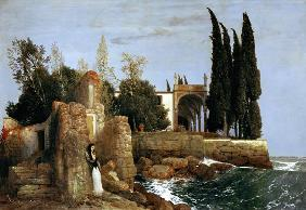 Kunstdruck von Arnold Böcklin - Villa am Meer