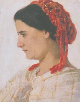 Kunstdruck von Arnold Böcklin - Bildnis Angela Böcklin
