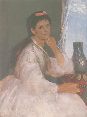 Kunstdruck von Arnold Böcklin - Bildnis Clara Böcklin
