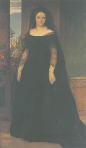 Kunstdruck von Arnold Böcklin - Bildnis der Schauspielerin Fanny Janauschek