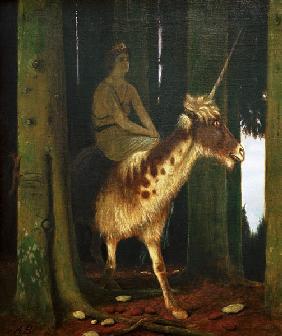 Kunstdruck von Arnold Böcklin - Das Schweigen des Waldes