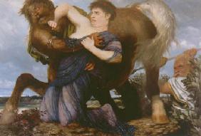 Kunstdruck von Arnold Böcklin - Dejanira und Nessus