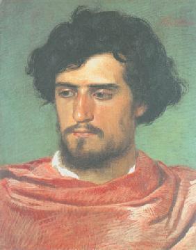Kunstdruck von Arnold Böcklin - Kopf eines Römers