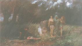 Kunstdruck von Arnold Böcklin - Ein Mörder von Furien verfolgt