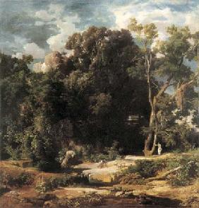Kunstdruck von Arnold Böcklin - Römische Landschaft