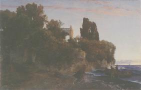 Kunstdruck von Arnold Böcklin - Schloss am Meer