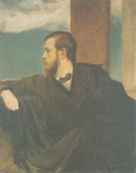 Kunstdruck von Arnold Böcklin - Selbstbildnis l