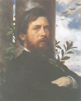 Kunstdruck von Arnold Böcklin - Selbstbildnis ll