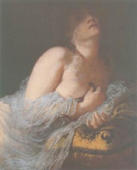 Kunstdruck von Arnold Böcklin - Die sterbende Kleopatra