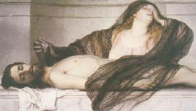 Kunstdruck von Arnold Böcklin - Trauer der Maria Magdalena an der Leiche Christi