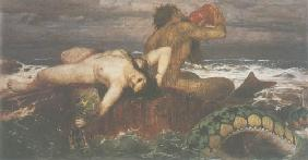 Kunstdruck von Arnold Böcklin - Triton und Nereide