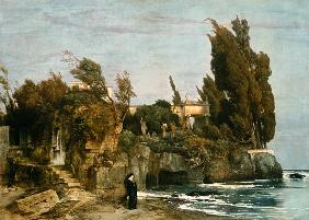 Kunstdruck von Arnold Böcklin - Villa am Meer ll