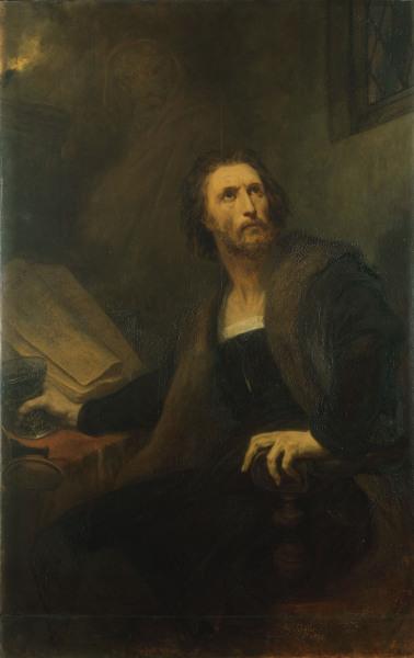 Goethe faust ary scheffer als kunstdruck oder handgemaltes gem lde - Faust wandfarbe ...