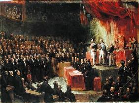 Study for King Louis-Philippe (1773-1850) Swearing his Oath to the Chamber of Deputies 9th August