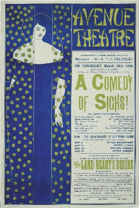 Avenue Theater, A Comedy of Sighs! (Plakat) 1894