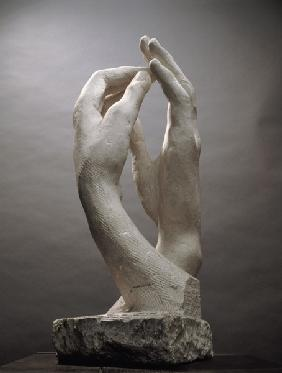 The Cathedral by Auguste Rodin (1840-1917) (plaster) 19th