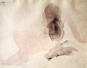 Seated Nude with Dishevelled Hair