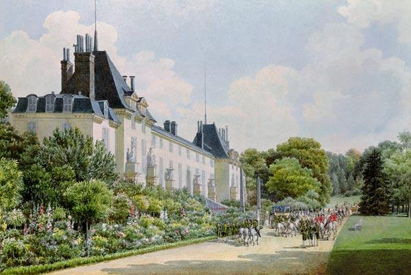 View of the Garden Facade of the Chateau, from a collection of twelve 'Views of the Malmaison'  on