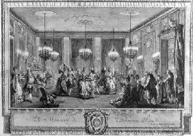 The Evening Dress Ball at the House of Monsieur de Villemorien Fila, engraved by L. Provost